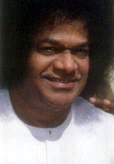 Sri Sathya Sai Baba, wearing white, on occasion of Birthday celebration