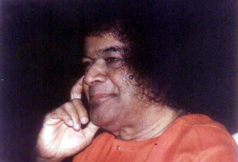 Sri Sathya Sai Baba, smiling